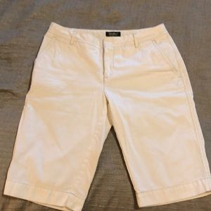 White ladies long shorts